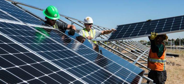 zonnepaneel installatie